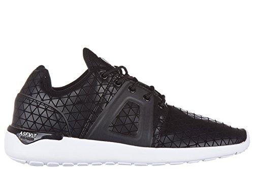 ASFVLT scarpe sneakers uomo in pelle nuove super tech nero EU 43 STC015 SUPERTECH