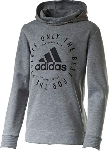 adidas Jungen YB SID PO Sweatshirt, Mehrfarbig (brgrin/Negro), 152