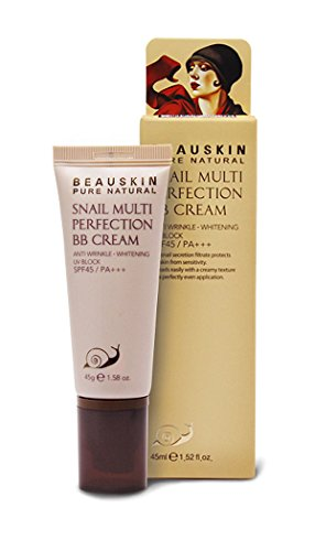 Beauskin Snail Silky Pore B.B Cream Spf30/Pa++ 45G 1.58 Oz / 6-Free / Anti Wrinkle, Whitening, Sun Block / Korea Cosmetics (#21 Natural Beige)