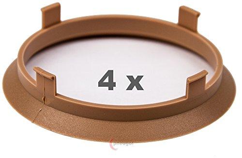 4 x Zentrierringe 70.1 mm auf 66.1 mm beige