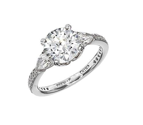 685aa9809 Myia Passiello Essentials Swarovski Zirconia Three Stone Ring - Size M