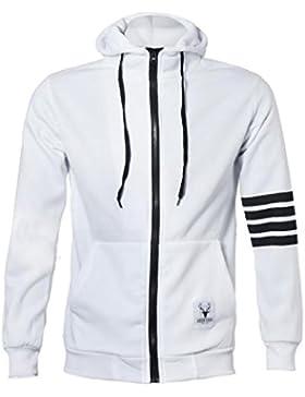 Ularma Camisas de hombres, deportes y Casual cremallera con capucha chaquetas