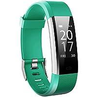 Toksum® Boost 2® Slim Fitness Activity Tracker Smart Armbanduhr | Wasserdicht Schrittzähler mit Schlaf- und Herzfrequenzmonitor und GPS | für Kinder, Damen und Herren | für iPhone & Android