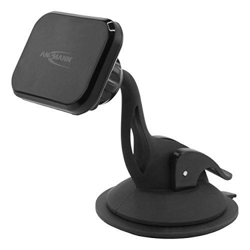 ANSMANN Handyhalter fürs Auto mit Magnet - KFZ Handy Halterung für Windschutzscheibe - KFZ Handyhalterung Auto Saugnapf - universal Magnethalter ideal als Auto Zubehör für Smartphone & Navi