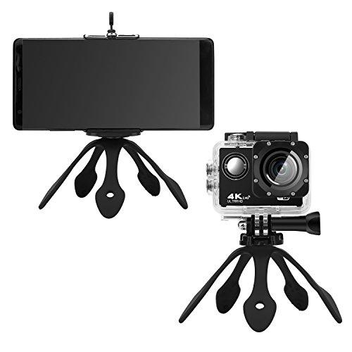 Galleria fotografica UliX Poseidon Supporto Treppiede Universale per Telefono, GoPro, Fotocamera Smartphone iPhone Samsung Huawei (Nero)