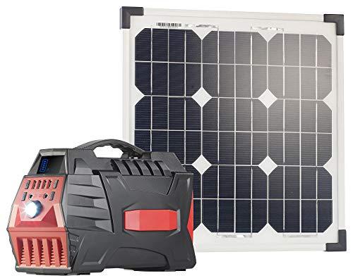 reVolt Solar-Ladegeräte USB: Solar-Generator & Powerbank mit mobilem 20-Watt-Solarpanel, 80 Ah (Energienbank)