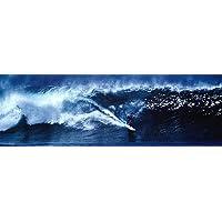 Póster 'High Surf Surfing Big Wave Panorama', Tamaño: 30 x 91 cm