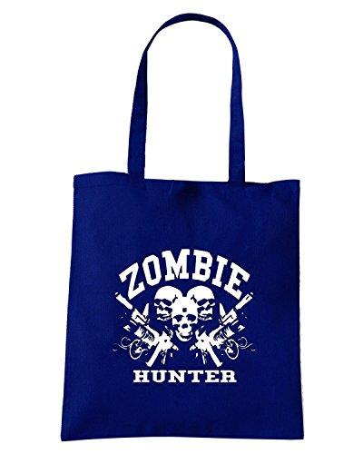 T-Shirtshock - Borsa Shopping TZOM0026 zombie hunter Blu Navy