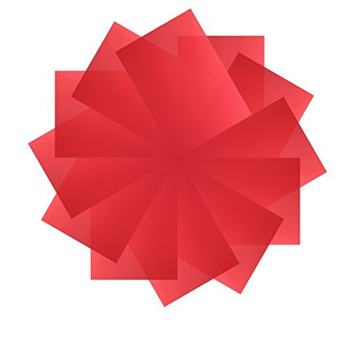 Neewer 12 Pack 8,5x11 Zoll / 21x28 Zentimeter Transparente Farbkorrektur Beleuchtung Gel Filter Set für Foto Studio Strobe Blitzlicht(rot)