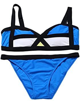 Costume da bagno delle signore Costumi da bagno spaccati della spiaggia del costume da bagno del bikini spaccato...