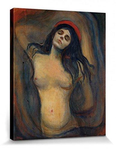 1art1 102414 Edvard Munch - Madonna, 1894-1895 Poster Leinwandbild Auf Keilrahmen 50 x 40 cm -