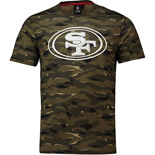 Majestic Athletic NFL Football T-Shirt San Francisco 49ers Logo Tee T Camo Camouflage (L)