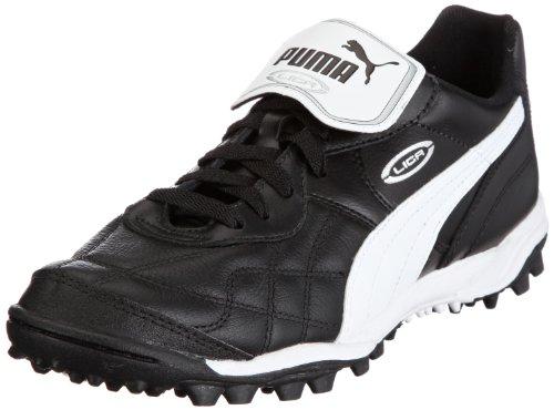 Puma Herren Liga Classic TT Sportschuhe-Fußball, Schwarz (Black-White Silver 01), 40.5 EU