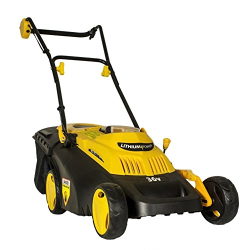"Evopower EVO1536Li Battery Powered Lawnmower Rechargeable Lithium-Ion Cordless 36 V 38cm / 15"" Cutting width"