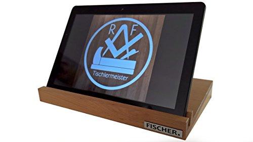 Preisvergleich Produktbild Tablet Halter, Tablet Ständer, I Pad Halter, I Pad Ständer aus Holz (Buche, ca. 23,9 x 16,5 x 2,5 cm (9 Zoll))