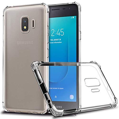 TXLING Samsung Galaxy J2 Core Hülle Durchsichtige Schutzhülle Case Etui TPU Schale Cover Handyhülle Klar Bumper Transparent (2 Stück Panzerglas Schutzfolie) (Etui Samsung Galaxy Core 2)