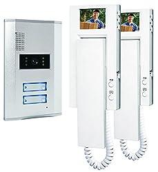 Smartwares VD62 SW Video-Türgegensprechanlage für 2 Teilnehmer