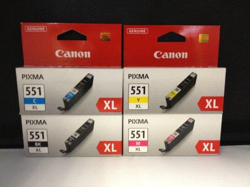 Canon – 4 cartuchos de tinta XL para Canon Pixma MG 5450, MX 925, color negro, cian, amarillo, magenta