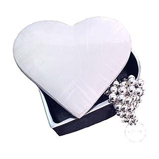 Solo Artisan Large Heart Shaped Trinket Box Jewellery Organiser, Ivory