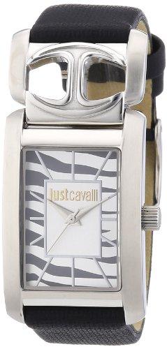 Just Cavalli R7251152501 - Reloj analógico de cuarzo para mujer con correa de piel, color negro
