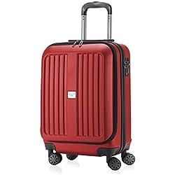 HAUPTSTADTKOFFER - X-Berg - Bagage à main robuste avec compartiment pour ordinateur portable, ABS, 55 cm, 42 L, Rouge