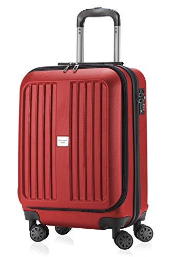 HAUPTSTADTKOFFER X-Berg -  Bagaglio a mano rigida, Trolley da cabina,  Borsa porta Laptop  55 cm, 42 Litri, Rosso