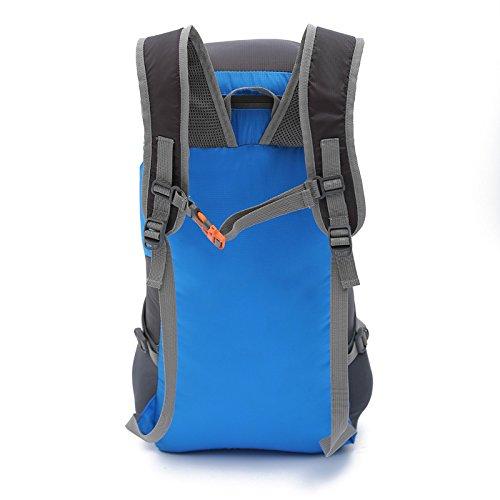 YYY-Pack pelle borsa a tracolla portatile ultra-leggero all'aperto pieghevole alpinismo zaino uomini e donne sport borsa da viaggio , gray Blue