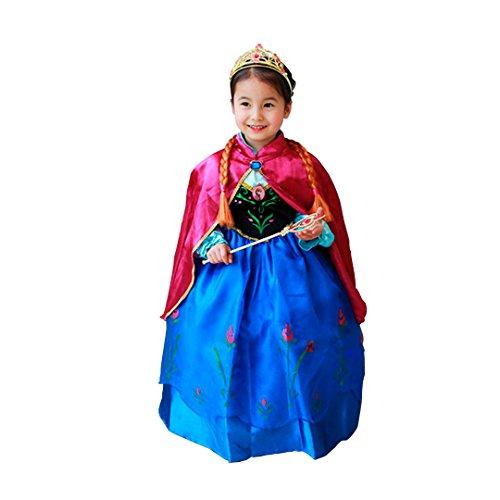 Imagen de disfraz elsa anna frozen con varita y corona 140 6 8 años