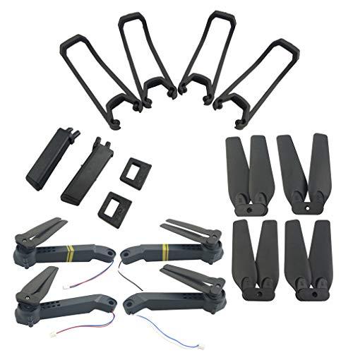 HYFSTONE E58 Drohne ersatzteile für Eachine E58 S168 JY019 Faltender Quadcopte Drohne(Schutzhülle,Fahrwerk,Luftschrauben und Achse Arme mit Motor& Luftschrauben) -