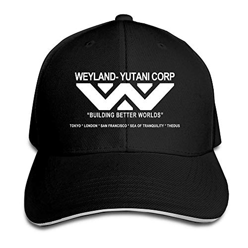 ani Corporation Alien Company Science Fiction Flex Baseball Cap Black ()