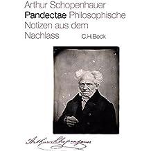 Pandectae: Philosophische Notizen aus dem Nachlass