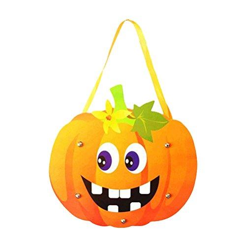 Fixuk Halloween-nette Kind-Handarbeit DIY Karikatur-Geist-Schloss-Kürbis-Beutel-Handtasche für Geschenk-Süßigkeit (Elf Halloween Diy Kostüm)