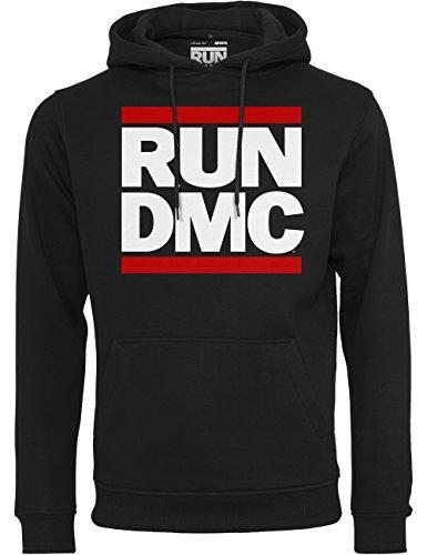 Mister Tee Herren Kapuzenpullover Run DMC Logo Hoody ,schwarz,M (Teen Kleidung Großhandel)