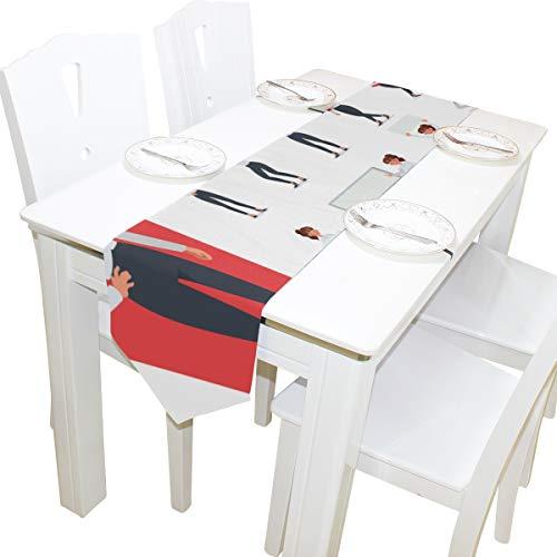 Yushg Büro Dame Elegante Kommode Schal Tuch Abdeckung Tischläufer Tischdecke Tischset Küche Esszimmer Wohnzimmer Home Hochzeitsbankett Decor Indoor 13x90 Zoll