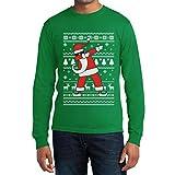 Weihnachten Dab vom Weihnachtsmann Langarm T-Shirt X-Large Grün