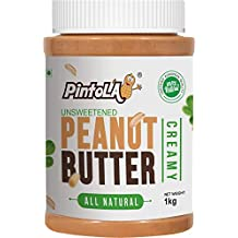 Pintola All Natural Creamy Peanut Butter, 1Kg (Unsweetened, Non-GMO, Gluten Free, Vegan)