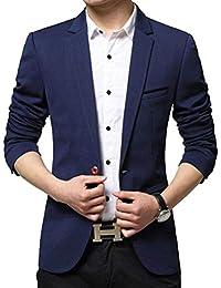 New Men Slim Fit Élégant Blazer Blazer Loisirs Business Veste Classique Costume  Veste Élégant Hommes Casual 2b8a3404829