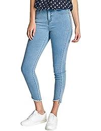 Vero Moda Vmnine Hw Slim Uneven Ankle, Jeans Femme