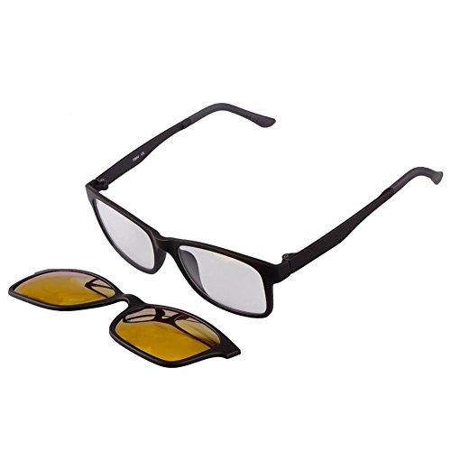 XUNQI Mann und Frau Mode Polarisierte Sonnenbrille Leichtes Full-frame Mit Magneten Anti-UV Anti-Glare-Brille Kann Myopie Brille tragen , red
