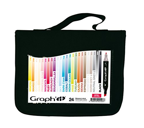 graphit-lot-de-24-marqueurs-a-alcool-double-pointe-basic-colors