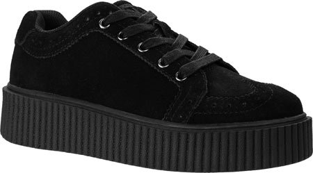 T.U.K. Shoes Women's Black Wingtip Casbah Creeper Black