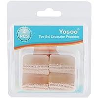 Packung mit 4 Toe Sleeves Verband, Toe Protector Straighters Korrektoren Sleeve Tube mit Big Toe Gel-Abstandshalter... preisvergleich bei billige-tabletten.eu