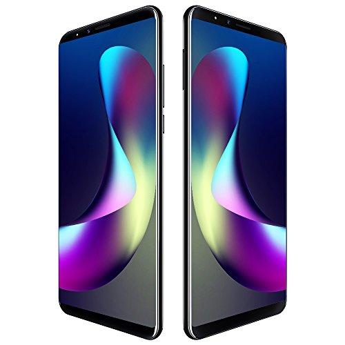 CUBOT X18 Plus 4G Smartphone LTE ohne Vertrag mit 5,99 Zoll Vollbildschirm,Dual Rückkamera,Fingerabdruck Sensor,4GB RAM 64GB ROM,4000 mAh Akku,Android 8.0 MTK6750T 1,5 GHz Octa Core (Schwarz) (Dual-sim Nokia-handy Entsperrt)