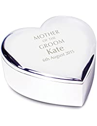 Mother of the Groom Heart Trinket - Personalised Laser Engraving