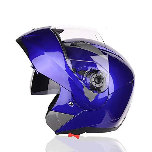 Exklusive Anpassung ABS Doppellinse Motorrad Full Cover Helm Männer Und Frauen Outdoor-Sportarten Reiten Querland Jethelm Farbe Lokomotive Voller Gesicht Helm Sicheres Fahren
