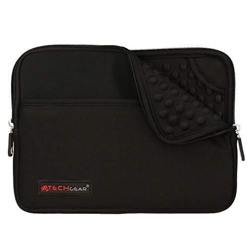 TECHGEAR Pro Sleeve [10] Schutzhülle aus Neopren mit Reißverschluss & Anti-Shock Bubble-Innenausstattung für Apple iPad Mini 4, 3, 2, 1, Samsung Tab 8,0, Iconia 8,0, Asus MeMo Pad 8, ZenPad 8 Schwarz
