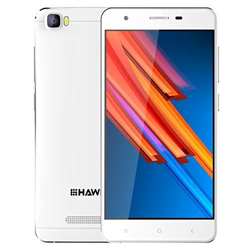 Günstiges Smartphone, HAWEEL H1 Pro entsperrt Handy 1GB+8GB 5,0 Zoll Android 6.0 MTK6735 Quad Core bis zu 1,2 GHz mit 4G Netzwerk WiFi, GPS (Weiß) (Android Entsperrt Handy 4g)