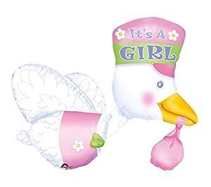Amscan International Multi-Stork - Globo de cigüeña con texto en inglés, color rosa