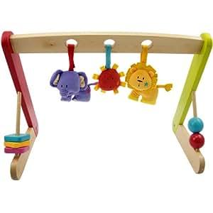 Baby Gym Holz : bieco baby gym aus holz mit 3 abnehmbaren kuscheltieren spielzeug ~ Watch28wear.com Haus und Dekorationen