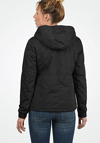 DESIRES Tilda Damen Übergangsjacke Jacke gefüttert mit Kapuze, Größe:XS, Farbe:Black (9000) - 5